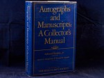 Autographs and Manuscripts: A Collector's Manual